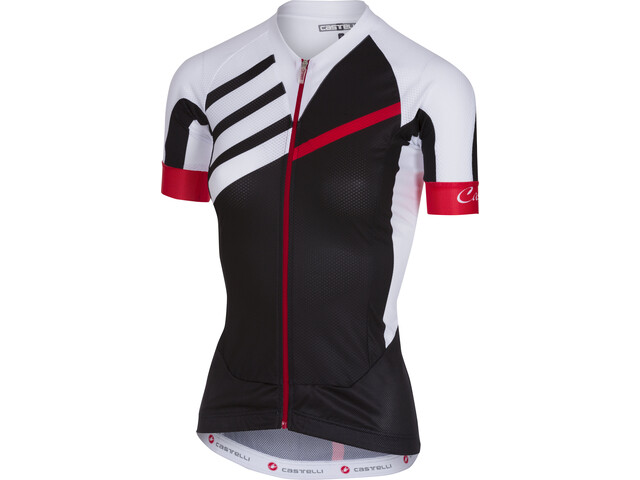 Castelli Aero Race Bike Jersey Shortsleeve white/black